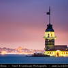 Turkey - Türkiye - Istanbul - Ancient Byzantium & Constantinople - Kiz Kulesi - Maiden's Tower - Leander's Tower - Tower lying on small islet located at southern entrance of Bosphorus strait 200 m from coast of Üsküdar - One of the best-known sights of Istanbul