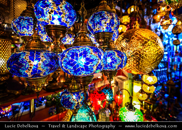 Turkey - Türkiye - Istanbul - Ancient Byzantium & Constantinople - Grand Bazaar - Kapalıçarşı - Center for trade in the entire Ottoman Empire - One of the largest & oldest covered markets in the world, with 61 covered streets & over 3,000 shops - One of the best-known sights of Istanbul