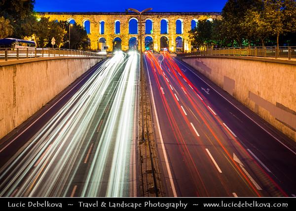 Turkey - Türkiye - Istanbul - Ancient Byzantium & Constantinople - Valens Aqueduct - Bozdoğan Kemeri - Aqueduct of the grey falcon - Roman aqueduct which was the major water-providing system of the Eastern Roman capital of Constantinople