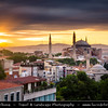 Turkey - Türkiye - Istanbul - Ancient Byzantium & Constantinople - Sultanahmet - Historical Old Town - UNESCO World Heritage site - Historic Areas of Istanbul - Hagia Sophia - Megale Ekklesia - Ayasofya Camii - Mosque of Holy Wisdom & jewel of Istanbul - Former Orthodox patriarchal basilica (church), later a mosque & now a museum - One of the best-known sights of Istanbul - Sunrise