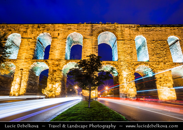 Turkey - Türkiye - Istanbul - Ancient Byzantium & Constantinople - Valens Aqueduct - Bozdoğan Kemeri - Aqueduct of the grey falcon - Roman aqueduct which was the major water-providing system of the Eastern Roman capital of Constantinople