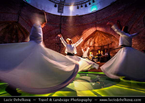Turkey - Türkiye - Istanbul - Ancient Byzantium & Constantinople - Sultanahmet - Historical Old Town - Famous Whirling Dervishes - Sacret Ritual of mystical Sufi sect of Islam