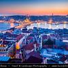 Turkey - Türkiye - Istanbul - Ancient Byzantium & Constantinople - City view from Galata Tower - Galata Kulesi looking towards Sultanahmet - Historical Old Town