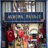 Shoppers in Avrupa Pasaji just off the popular Istiklal street in Istanbul, Turkey.