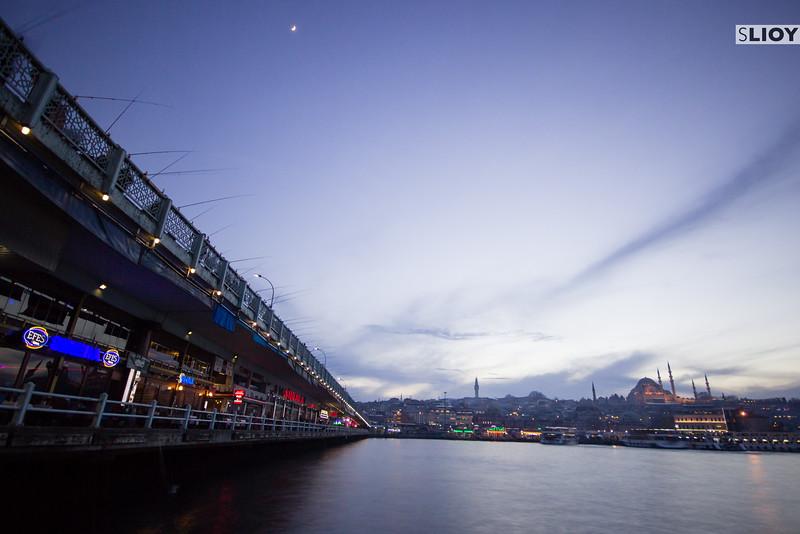 The Galata Bridge at Blue Hour.