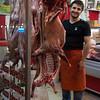 Butcher in Fatih neighborhood.