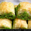 Turkey - Türkiye - Gaziantep - Antep - One of the oldest continually inhabited cities in the world - Capital of Baklava - Baklawa - Rich, sweet pastry made of layers of filo pastry filled with chopped nuts and sweetened with syrup or honey