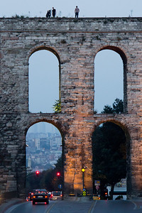 The Valens Aquaduct in the heart of Istanbul.