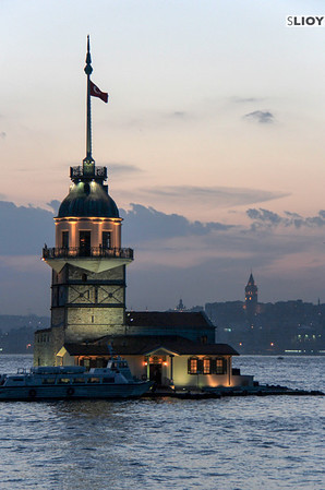 Maidens' Tower with Galata in the Background.