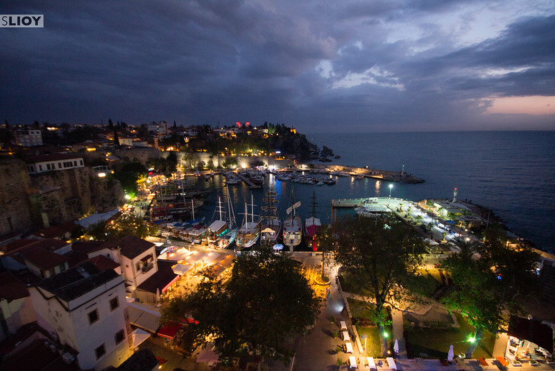 The Ruins of Antalya Harbor in Southern Turkey.