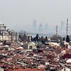 Istanbul skyline with many minarets.