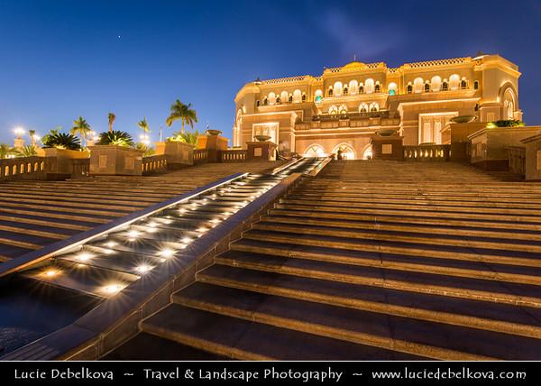 Middle East - GCC - United Arab Emirates - UAE - Abu Dhabi - Emirates Palace - Luxury 7* star hotel built as a landmark showcasing Arabian culture