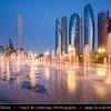 Middle East - GCC - United Arab Emirates - UAE - Abu Dhabi - Brand new modern skyline with sky high skyscrapers along the corniche