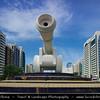 Middle East - GCC - United Arab Emirates - UAE - Abu Dhabi - Brand new modern skyline with sky high skyscrapers