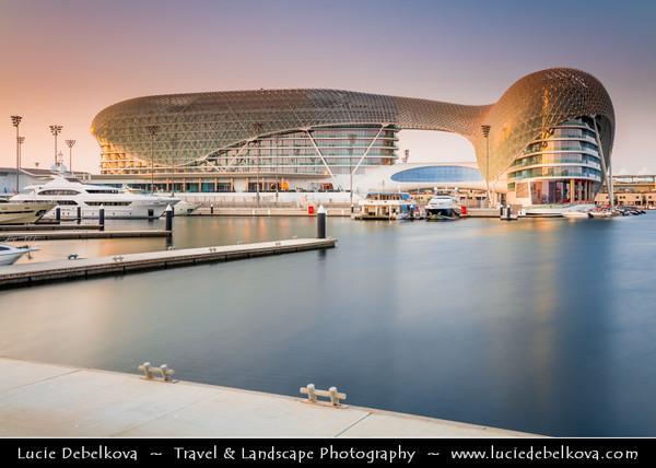 Middle East - GCC - United Arab Emirates - UAE - Emirate of Abu Dhabi - Yas Island - Viceroy Marina - Brand new ultra modern funky skyline