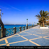 Middle East - GCC - United Arab Emirates - UAE - Emirate of Abu Dhabi - Abu Dhabi - Corniche Road along the sea shore