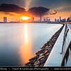 Middle East - GCC - United Arab Emirates - UAE - Dubai - Dubai Water Canal - Dubai Creek - Artificial canal with modern sky high buildings with iconic Burj Khalifa - Khalifa Tower - Skyscraper & tallest man-made structure in world at 829.8 m (2,722 ft)