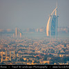 "Middle East - GCC - United Arab Emirates - UAE - Dubai - Burj Al Arab - برج العرب‎ - Tower of the Arabs - Luxury hotel called ""The world's only 7 star Hotel"" located on artificial island 280 m (920 ft) on Jumeirah beach"