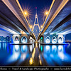 Middle East - GCC - United Arab Emirates - UAE - Dubai - Ras Al Khor Bridge - Business Bay Crossing over Dubai Creek at Night