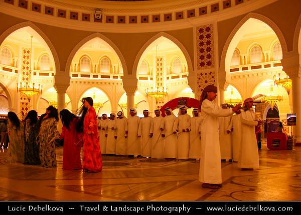 Middle East - GCC - United Arab Emirates - UAE - Dubai - Mall of the Emirates - Largest shopping mall - Gold Souk - Traditional performance
