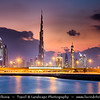 Middle East - GCC - United Arab Emirates - UAE - Dubai - Dubai Water Canal - Dubai Creek - Artificial canal with modern sky high buildings with iconic Burj Khalifa
