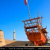 Middle East - GCC - United Arab Emirates - UAE - Dubai - Old Al Fahidi Fort - Dubai Museum - Oldest remaining buildign in Bur Dubai - Old Town - Historic city center located at the Dubai Creek