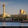 Middle East - GCC - United Arab Emirates - UAE - Dubai - Dubai Creek - Saltwater creek & oldest settlement in modern Dubai with grand wind-tower residences, heritage attractions, alfresco eateries on Shindagha waterfront & Bastakiya Mosque with its Minaret