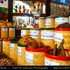 Middle East - GCC - United Arab Emirates - UAE - Dubai - Dubai Creek - Deira - Dubai Spice Souk - Old Souq - Traditional market with stores selling a variety of spices, herbs and nuts