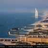 "Middle East - GCC - United Arab Emirates - UAE - Dubai - Burj Al Arab - برج العرب - Tower of the Arabs - Luxury hotel called ""The world's only 7 star Hotel"" located on artificial island 280 m (920 ft) on Jumeirah beach"