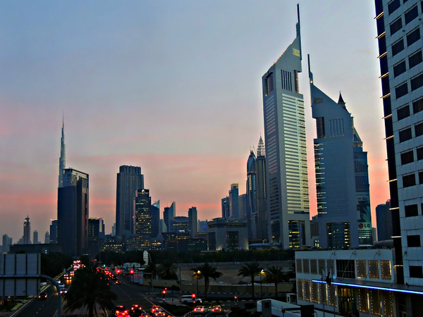 Dubai Evening Skyline