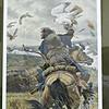 Genghiz Khan hunting with Gyrfalcon