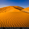 Middle East - GCC - United Arab Emirates - UAE - Emirate of Abu Dhabi - Al Ain desert area with endless sea of sand dunes