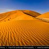 Middle East - GCC - United Arab Emirates - UAE - Emirate of Abu Dhabi - Al Ain desert area with endless sea of sand dunes