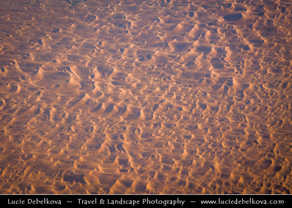 Middle East - GCC - United Arab Emirates - UAE - Abu Dhabi Emirate - Empty Quarter Desert - Rub Al Khali - Arabian Desert - Spectacular sea of sand dunes - Aerial View
