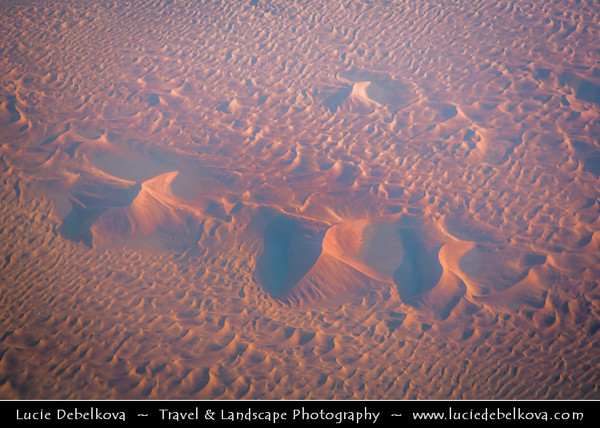 Middle East - GCC - United Arab Emirates - UAE - Abu Dhabi Emirate - Empty Quarter Desert - Rub Al Khali - Arabian Desert - Spectacular sea of sand dunes - Aerial View