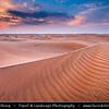 Middle East - GCC - United Arab Emirates - UAE - Emirate of Ras Al Khaimah - RAK - Sea of sand dunes in vast desert landscape