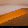 Middle East - GCC - United Arab Emirates - UAE - Abu Dhabi Emirate - Empty Quarter Desert - Rub Al Khali - Arabian Desert - Spectacular sea of sand dunes with mystical morning mist