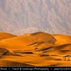 Middle East - GCC - United Arab Emirates - UAE - Emirate of Abu Dhabi - Al Ain - Tilapia Lake - Zakher Lake surrounded by sand dunes under Jabal Hafeet - Jabel - Jebal
