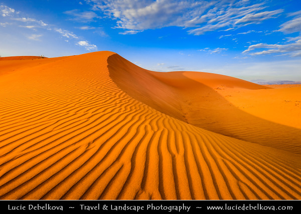 Middle East - GCC - United Arab Emirates - UAE - Emirate of Ras Al Khaimah - RAK - Sea of sand dunes in vast desert landscape