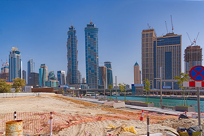 Dubai Water Canal construction