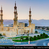 Middle East - GCC - United Arab Emirates - UAE - Emirate of Fujairah - Dibba - Sheikh Zayed Masjid - Beautiful 4 minarets mosque next to the Dibba roundabout