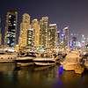 Brightly lit: night in the Dubai Marina.