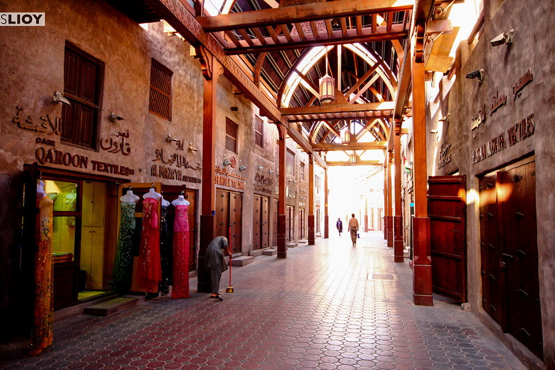 Early Morning in the Dubai Old Souk.
