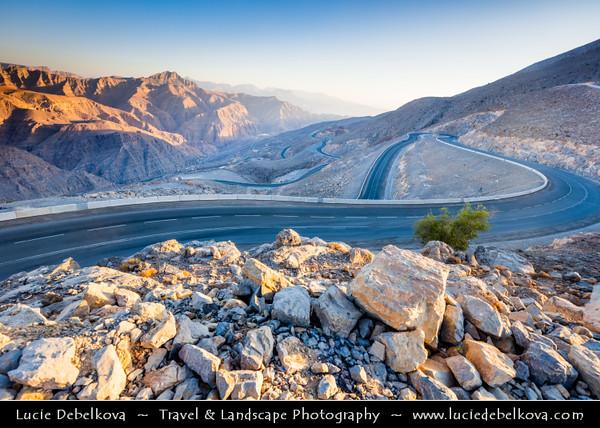 Middle East - GCC - United Arab Emirates - UAE - Ras Al Khaimah Emirate - RAK - Jebel Jais Mountain - Tallest mountain in United Arab Emirates at altitude of 1,925 metres (6,315 feet) in Al Hajar Mountains