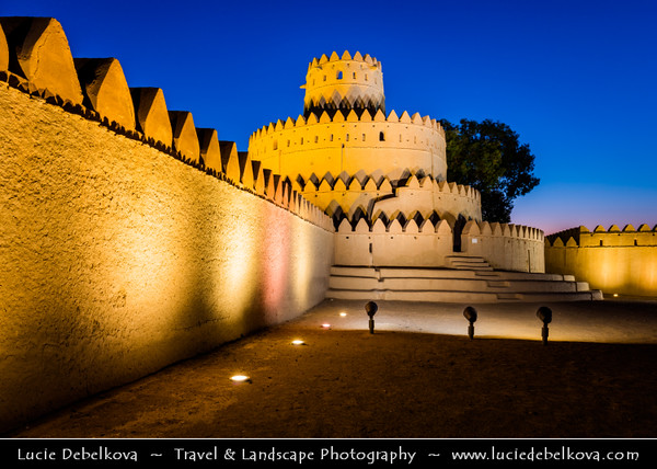 Middle East - GCC - United Arab Emirates - UAE - Emirate of Abu Dhabi - Al Ain - Al Jahili Fort - Picturesque fort constructed in 1890s as summer residence of Sheikh Zayed I