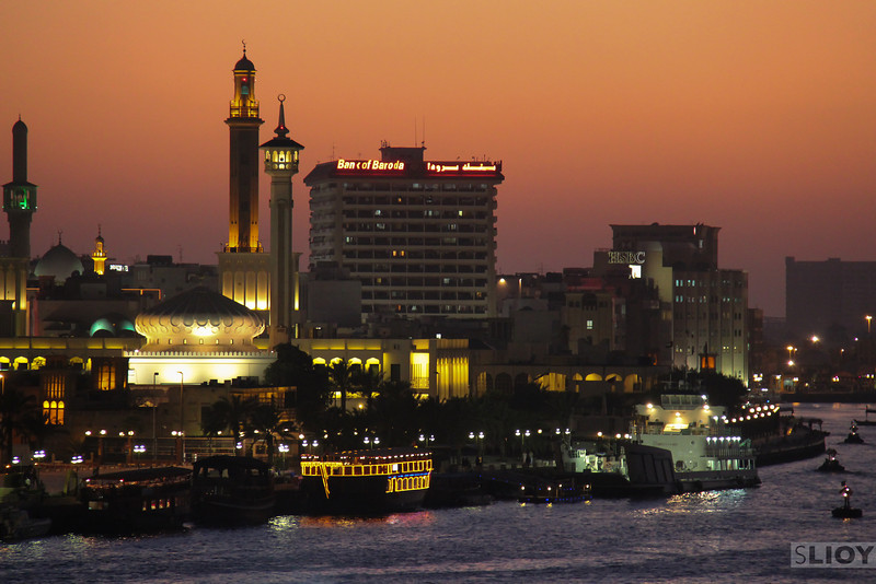 Dubai Creek at Dusk.