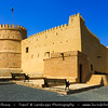 Middle East - GCC - United Arab Emirates - UAE - Emirate of Fujairah - Al Bathnah Fort - Bithnah Fort - 18th century fort constructed from stone, mud-brick, adobe and palm-wood planking