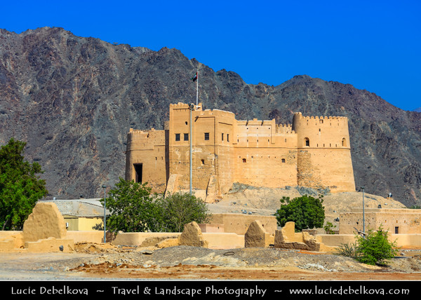 Middle East - GCC - United Arab Emirates - UAE - Emirate of Fujairah - Fujairah - Fujairah Historic Fort - Oldest fort in the UAE,  popular landmark in the eastern emirate and one of the most photographed buildings in the region