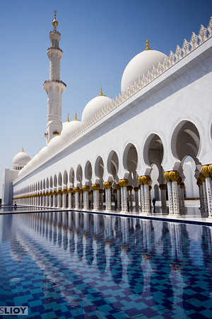 Abu Dhabi Grand Mosque.Abu Dhabi, United Arab Emirates.
