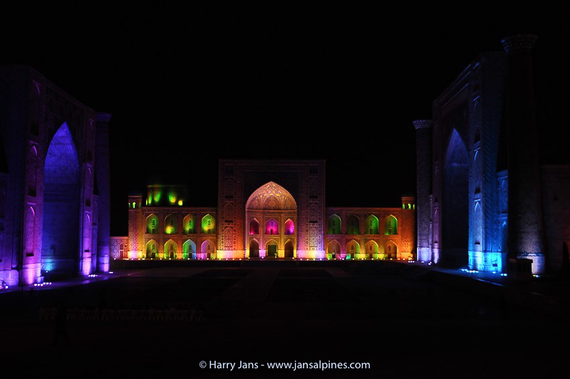 Registan by night with LED show